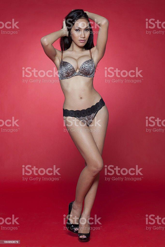 Attractive asian model stock photo