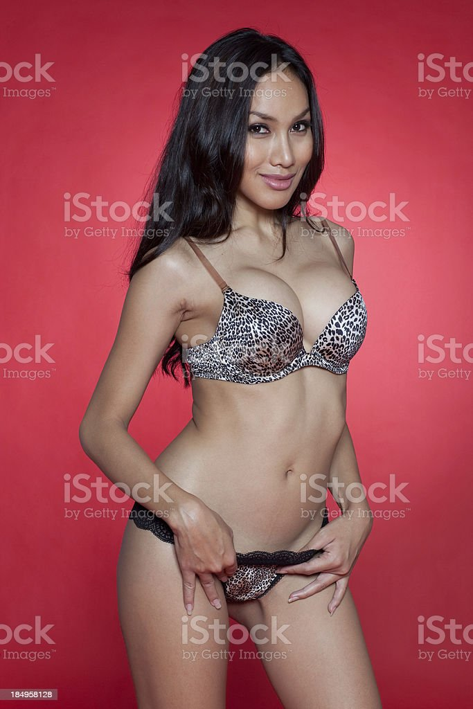 Attractive asian model royalty-free stock photo