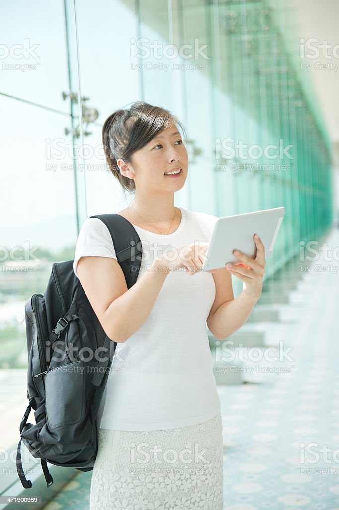 attractive asian student royalty-free stock photo