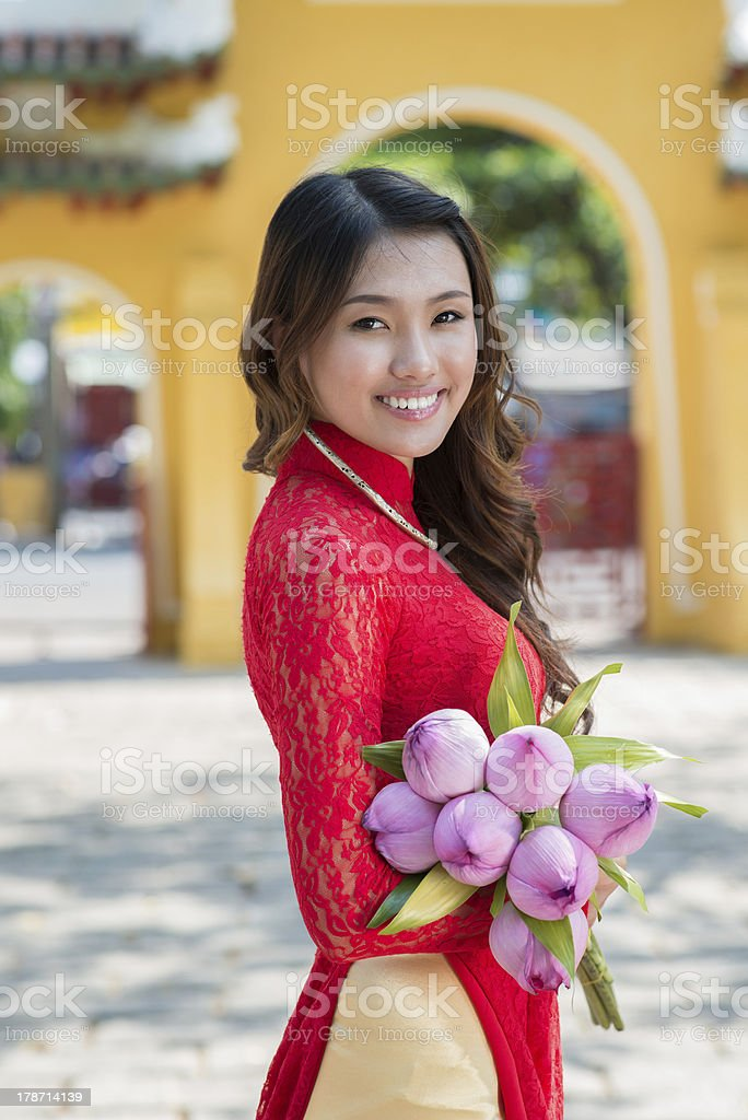 Attractive asian woman stock photo