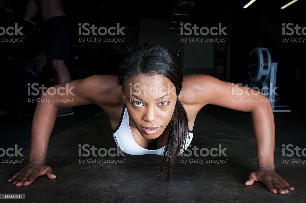 Attractive Athlete doing Pushups royalty-free stock photo