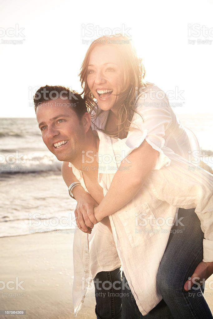 Attractive Beach Couple royalty-free stock photo