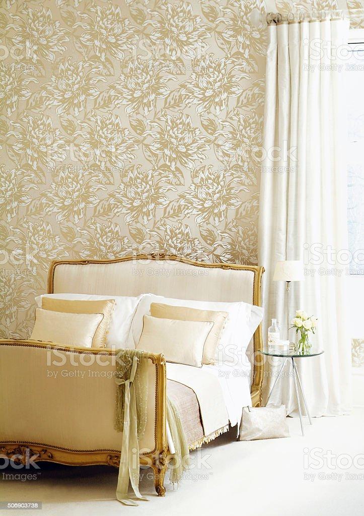Attractive bedroom set stock photo