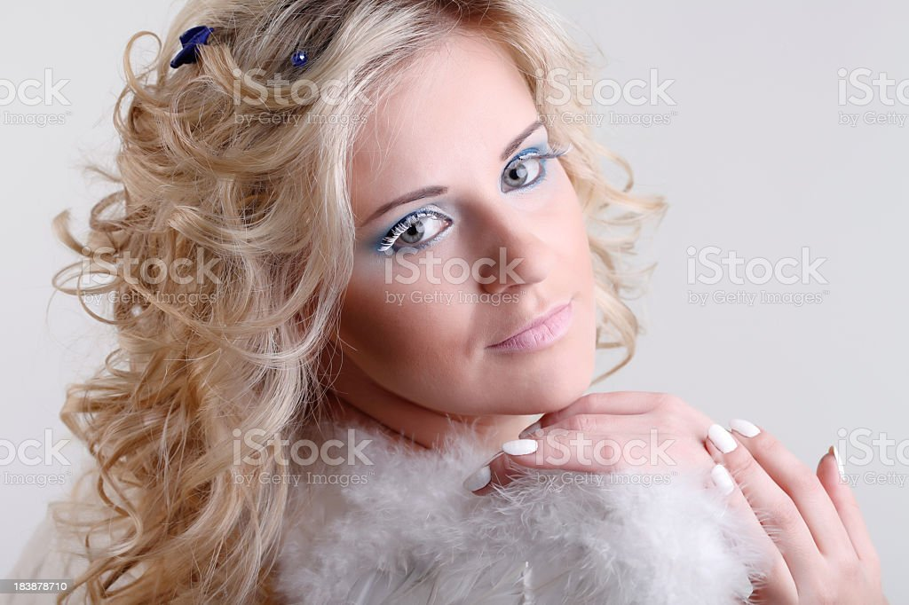 Attractive blond beauty stock photo
