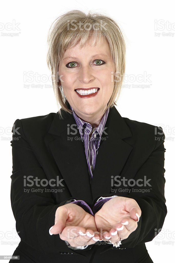 Attractive Blond Grandmother royalty-free stock photo