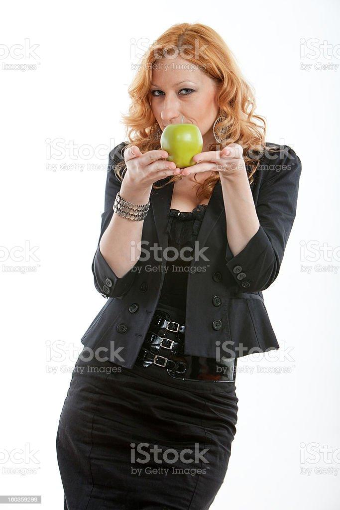 Attractive blond twenties russian caucasian business woman stock photo