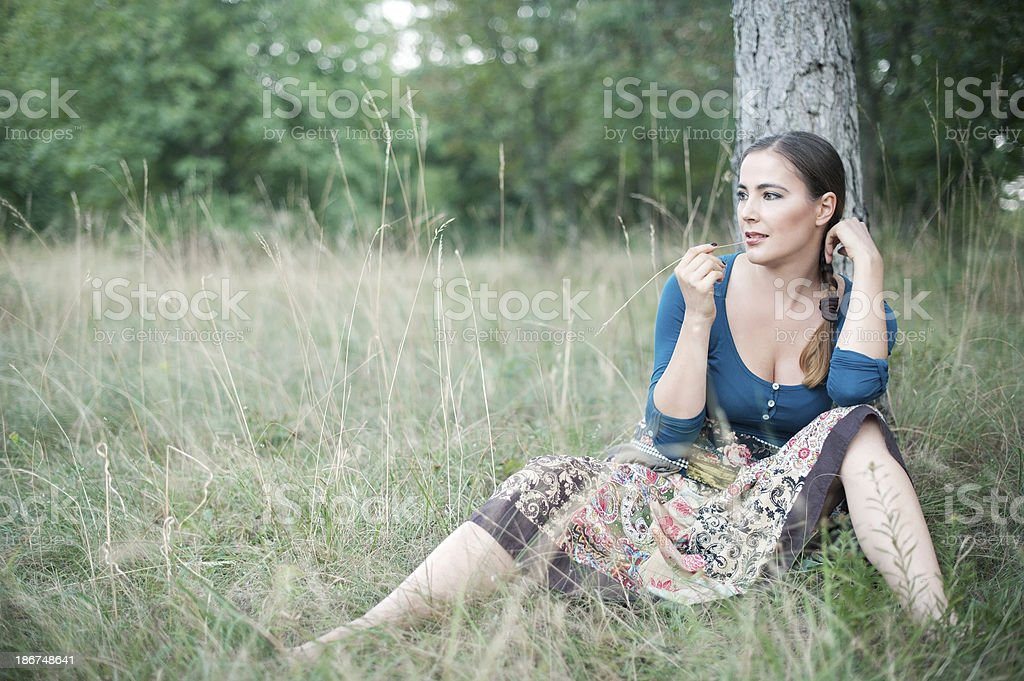 Attractive Bohemian Gypsy Woman royalty-free stock photo