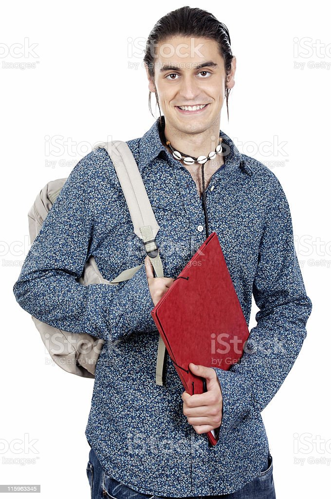attractive boy student royalty-free stock photo