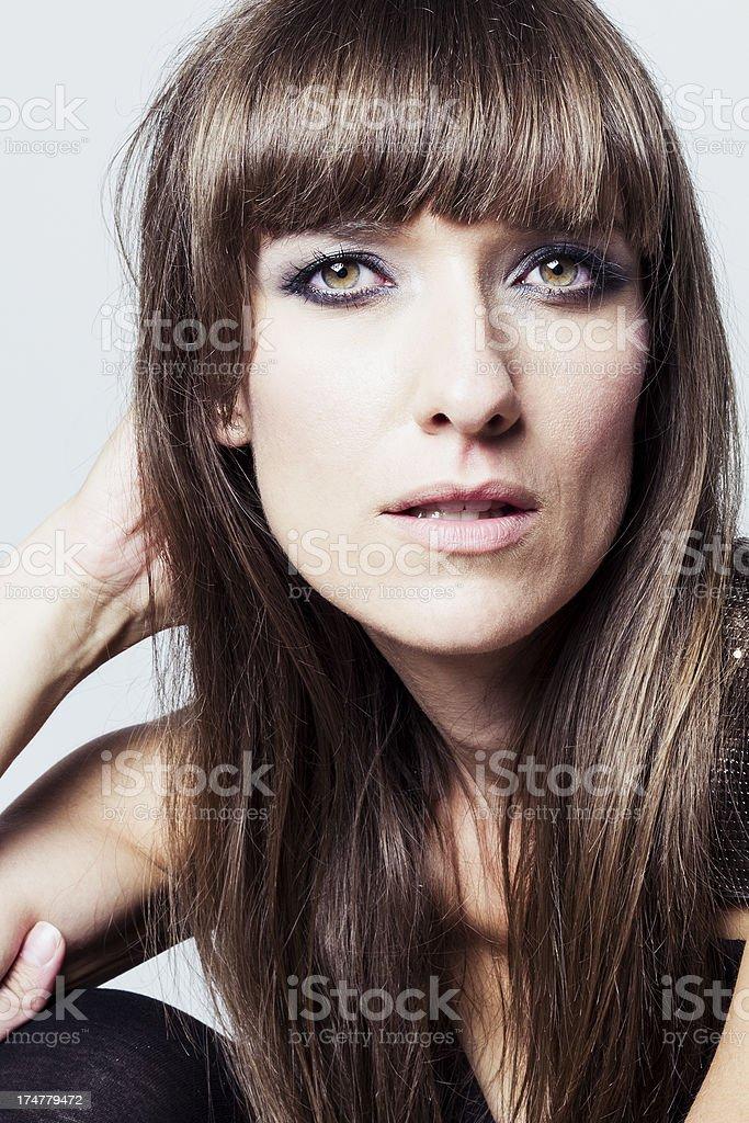 Attractive brunette stock photo