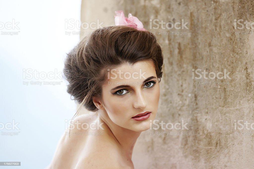 Attractive brunette woman portrait royalty-free stock photo