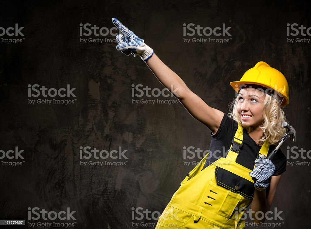 Attractive builder woman royalty-free stock photo
