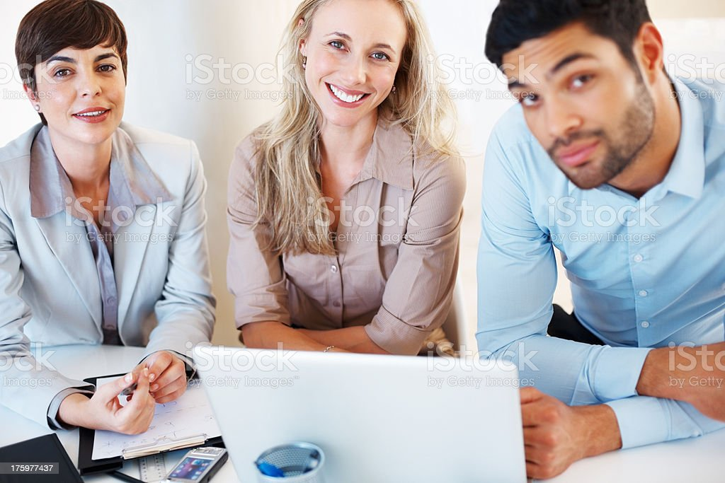 Attractive business colleagues stock photo