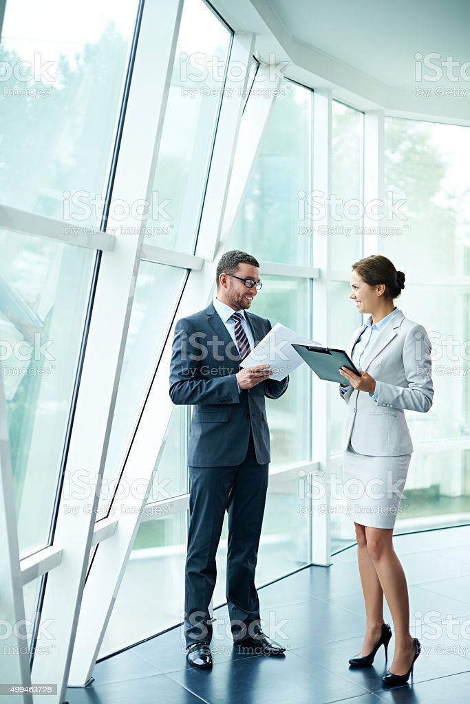 Attractive business people stock photo