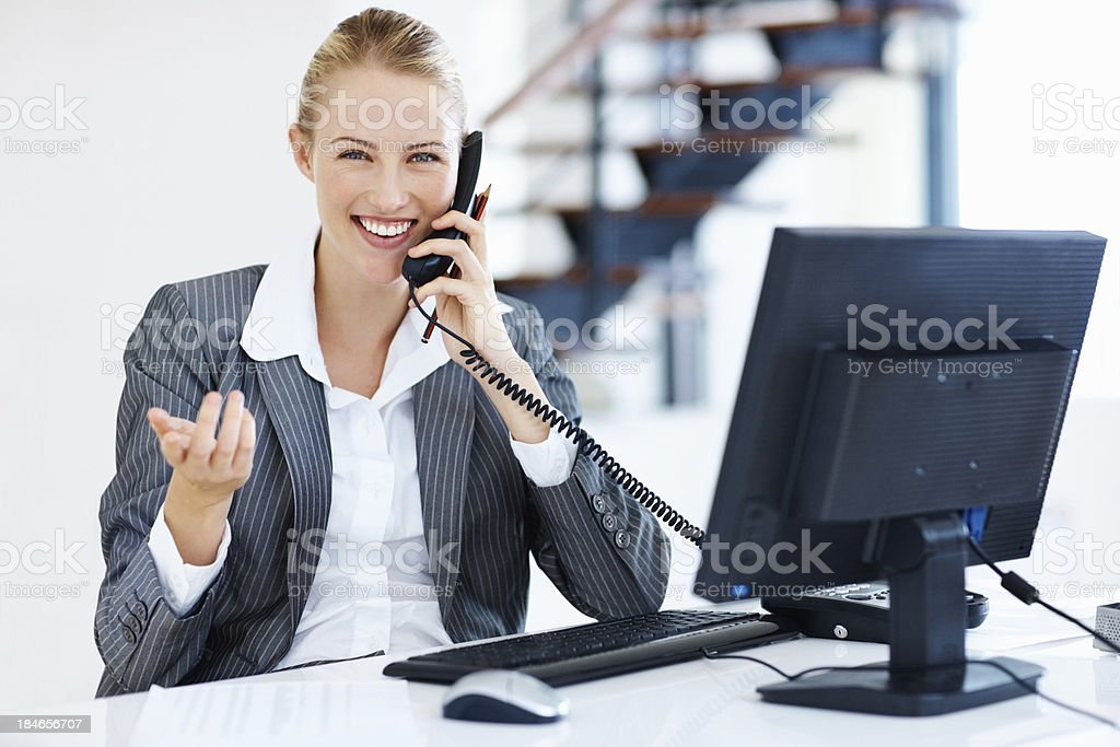 Attractive business woman at work royalty-free stock photo