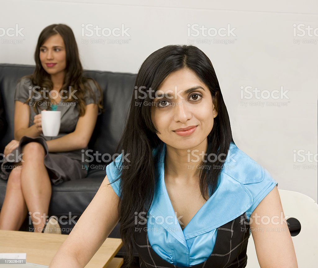 attractive business woman stock photo