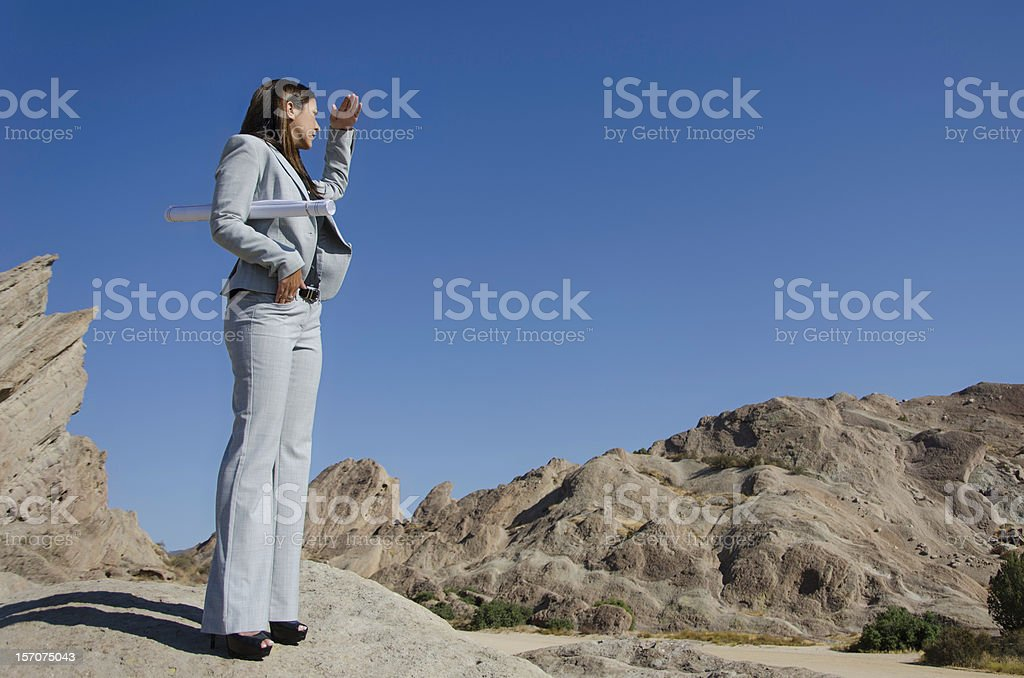 Attractive Business Woman searching for Opportunities royalty-free stock photo