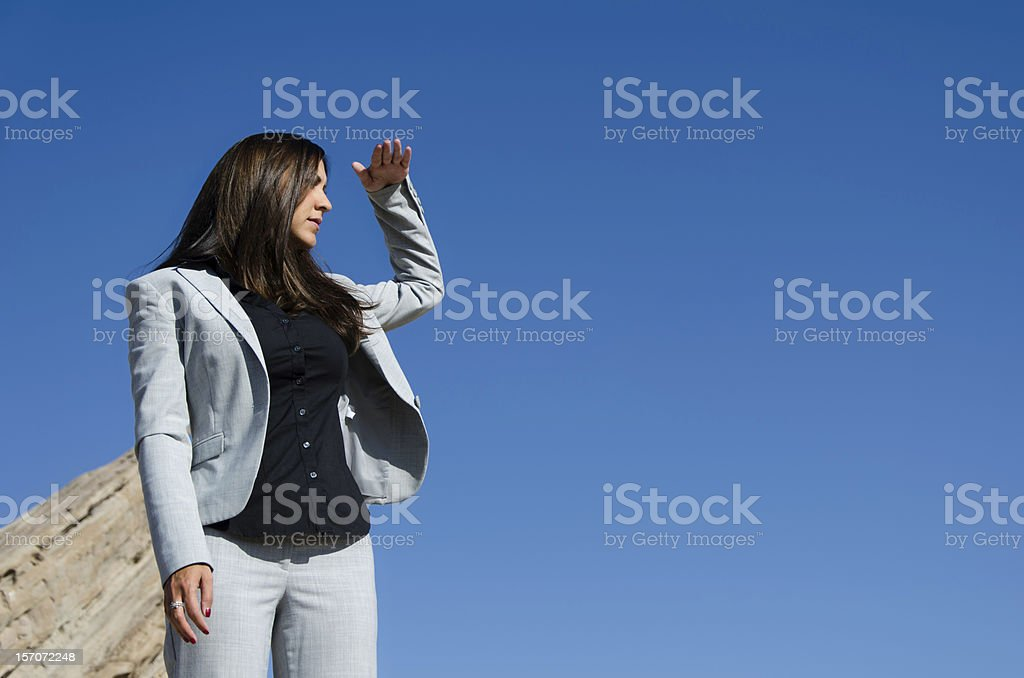 Attractive Business Woman searching stock photo
