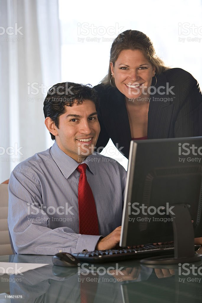 Attractive Businessman And Businesswoman royalty-free stock photo