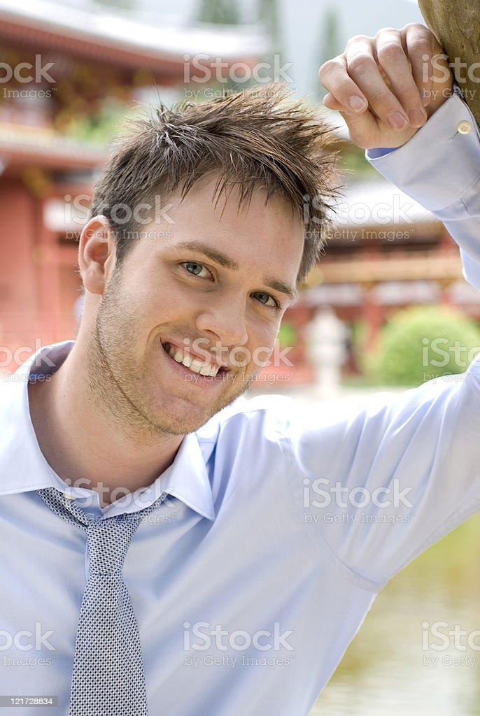 Attractive businessman royalty-free stock photo