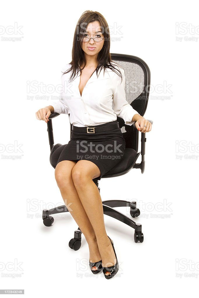 Attractive Businesswoman in Chair royalty-free stock photo