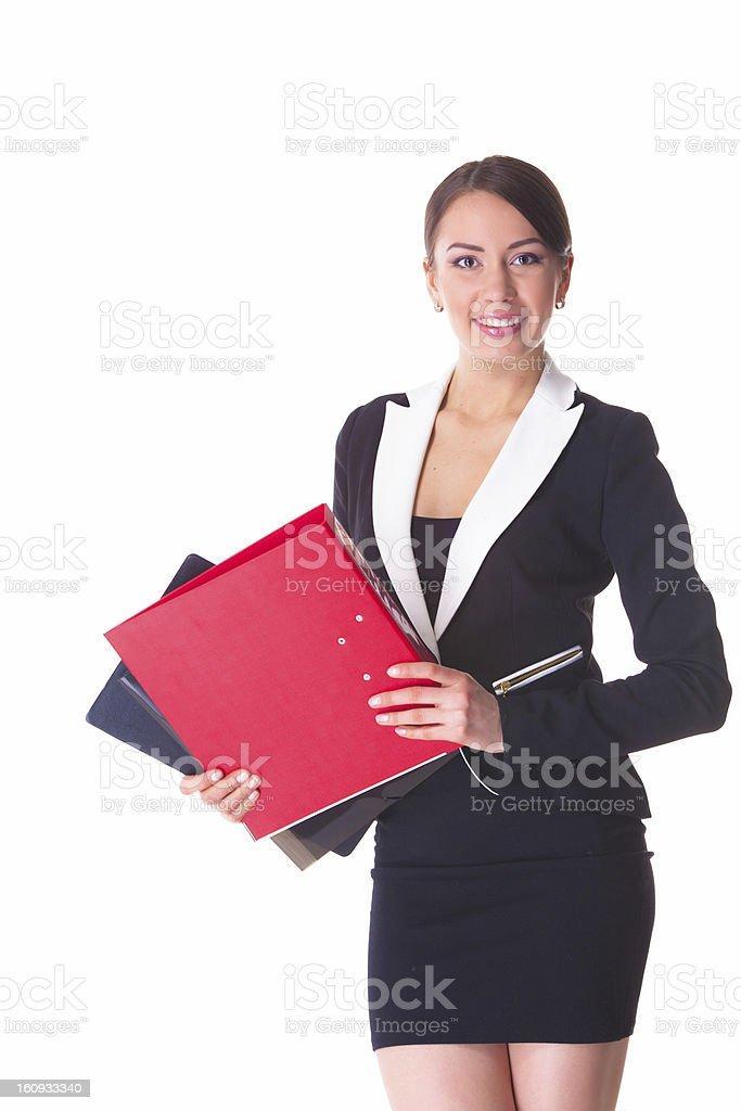 Attraktive Geschäftsfrau Lizenzfreies stock-foto