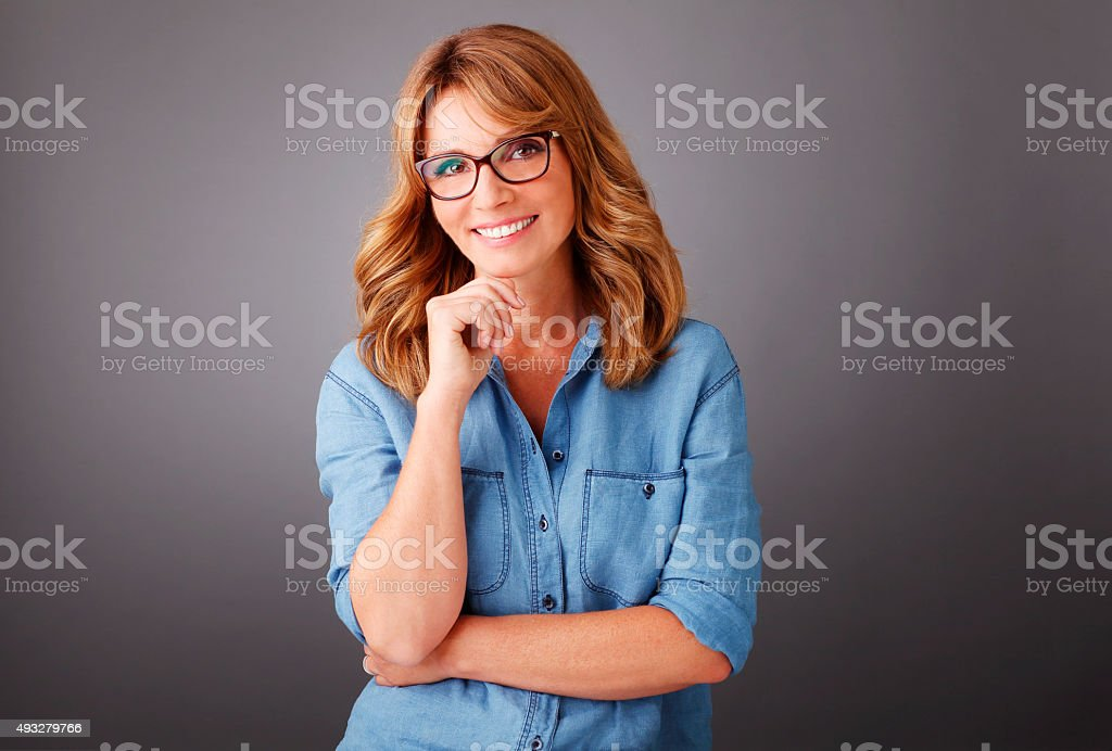 Attractive businesswoman portrait stock photo