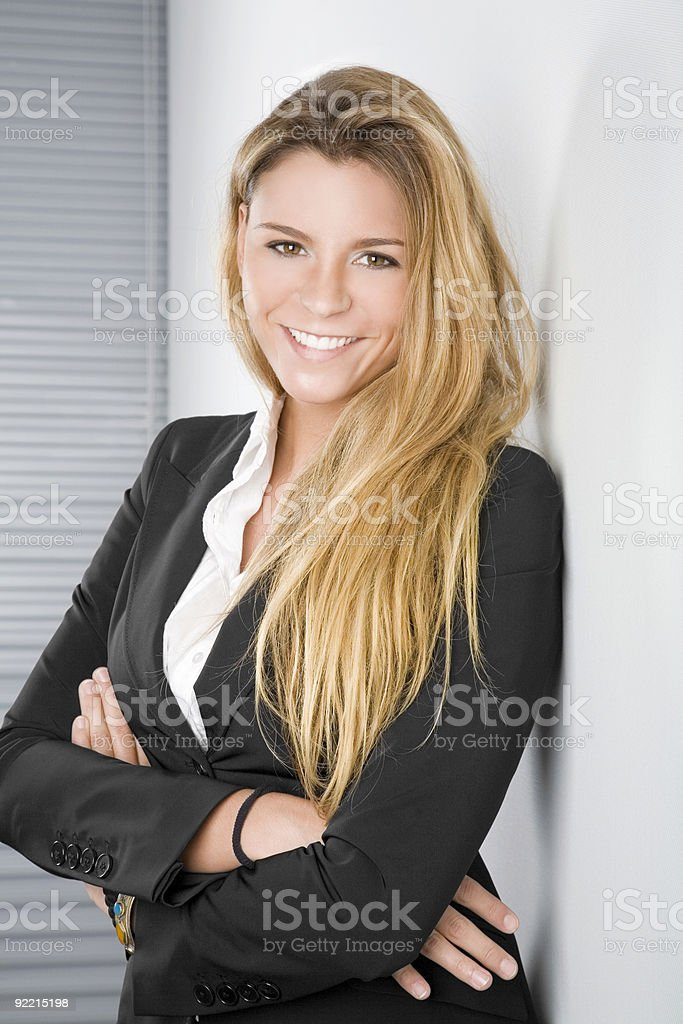 Attractive businesswoman portrait royalty-free stock photo