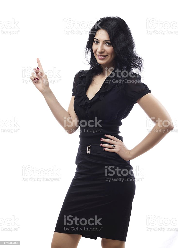 Attractive Businesswoman Presenting royalty-free stock photo
