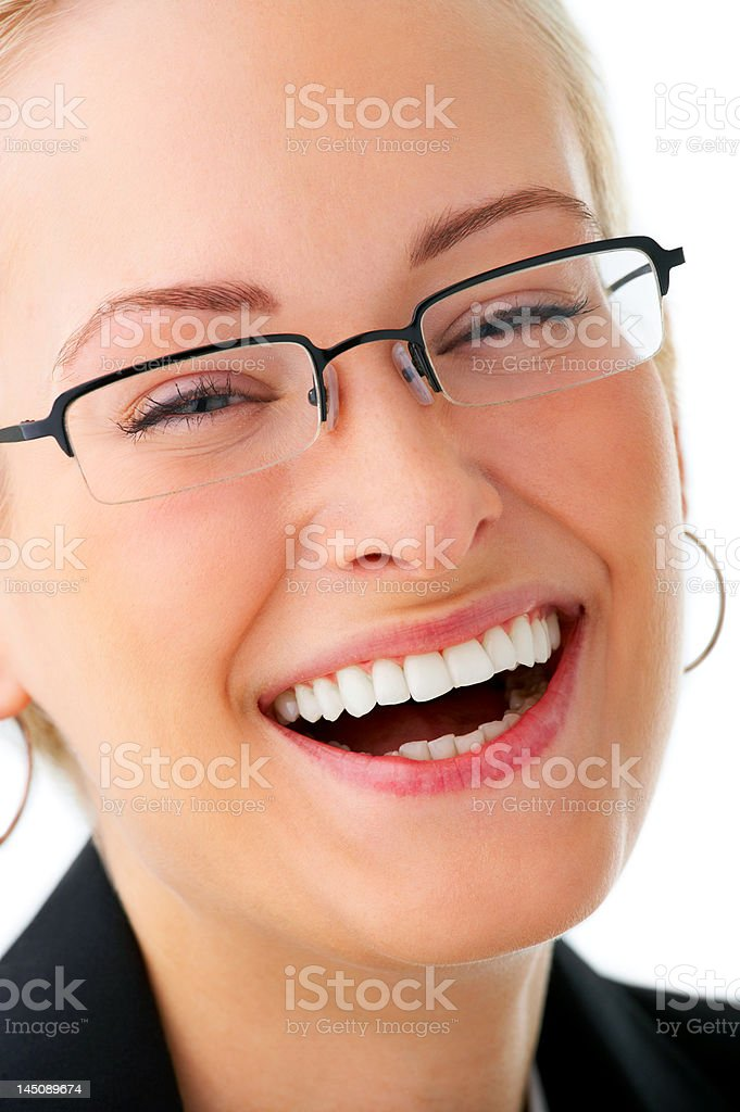 Attractive businesswoman smiling royalty-free stock photo