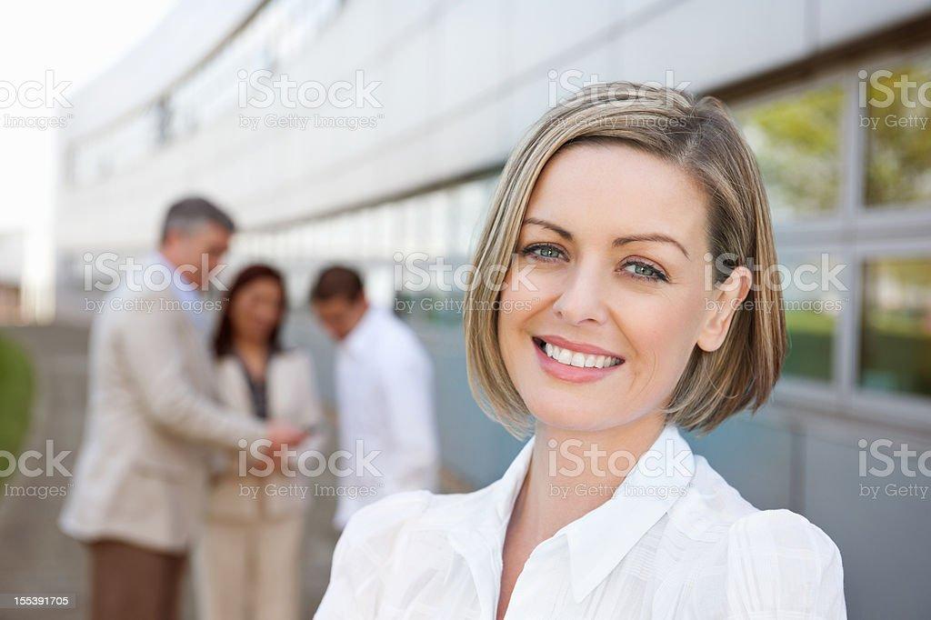 Attractive Businesswoman Smiling stock photo