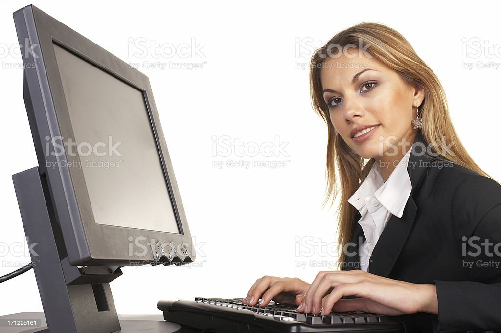 Attractive Businesswoman with Laptop royalty-free stock photo