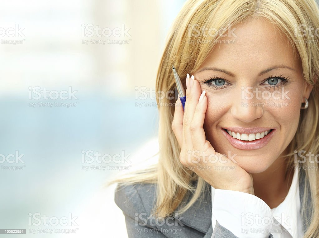 Attractive businesswoman,closeup. royalty-free stock photo