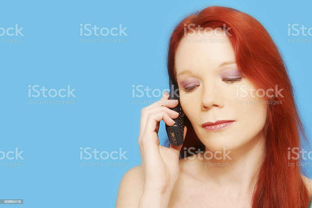 Attractive Caller royalty-free stock photo