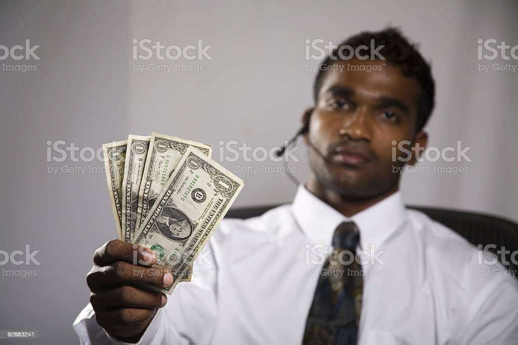 attractive cash back offer royalty-free stock photo