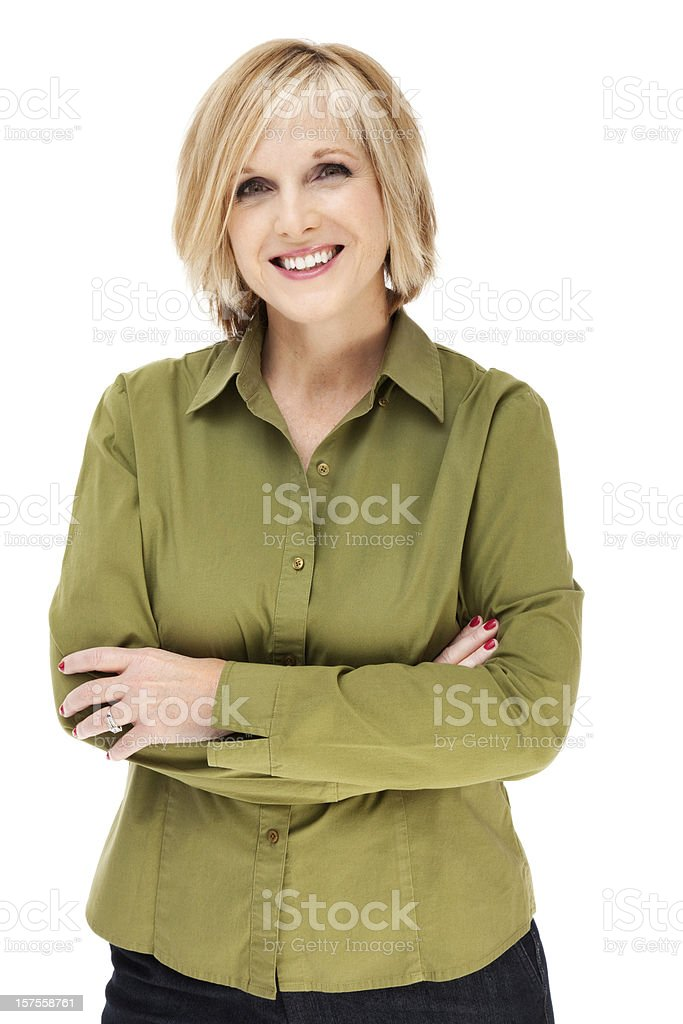 Attractive Casual Mature Woman stock photo