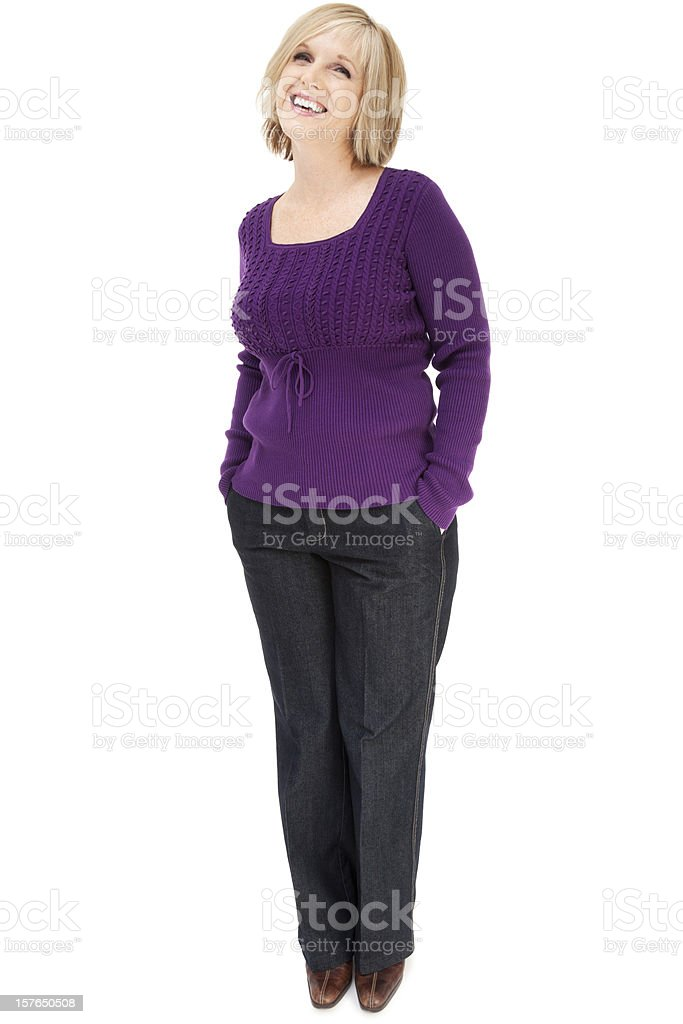 Attractive Casual Mature Woman royalty-free stock photo
