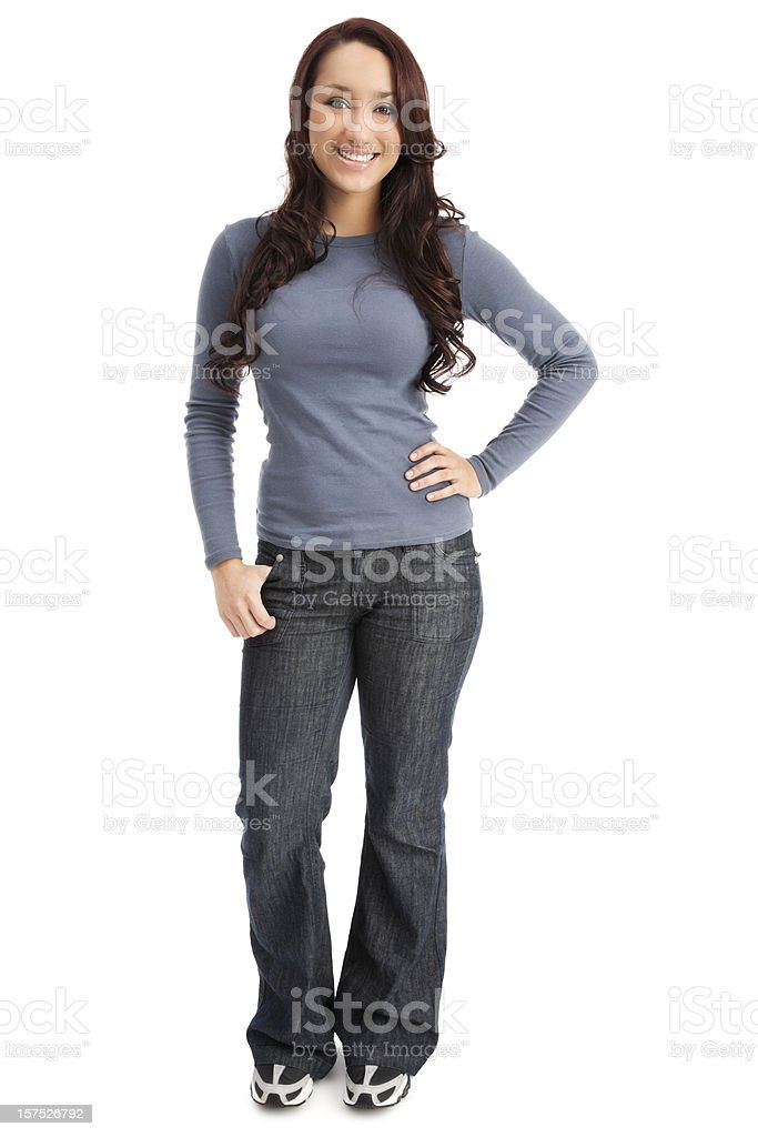 Attractive Casual Young Woman royalty-free stock photo