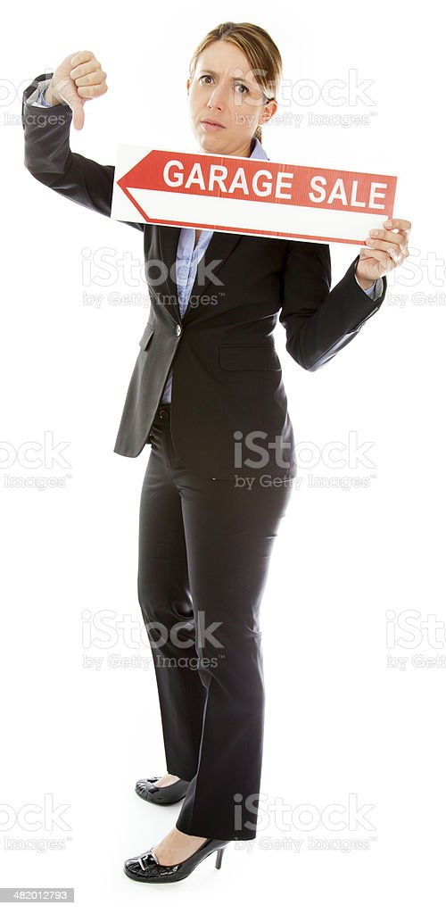Attractive caucasian business woman isolated on a white background royalty-free stock photo