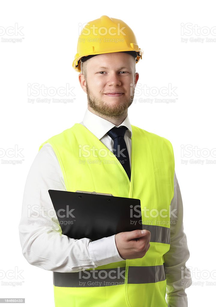 Attractive construction worker royalty-free stock photo