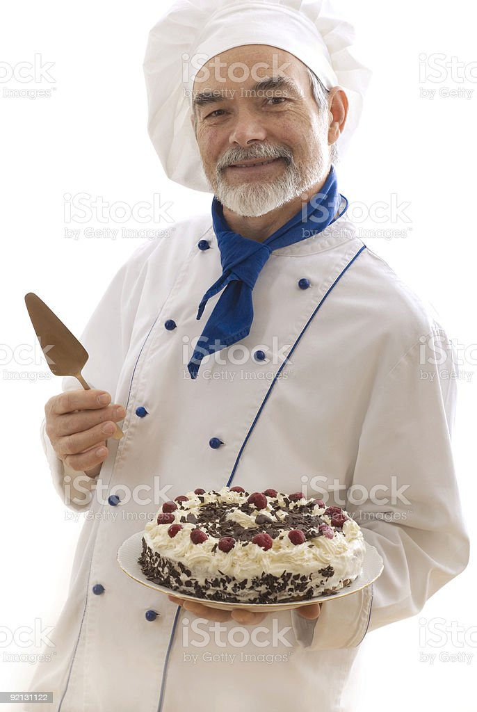 attractive cook royalty-free stock photo