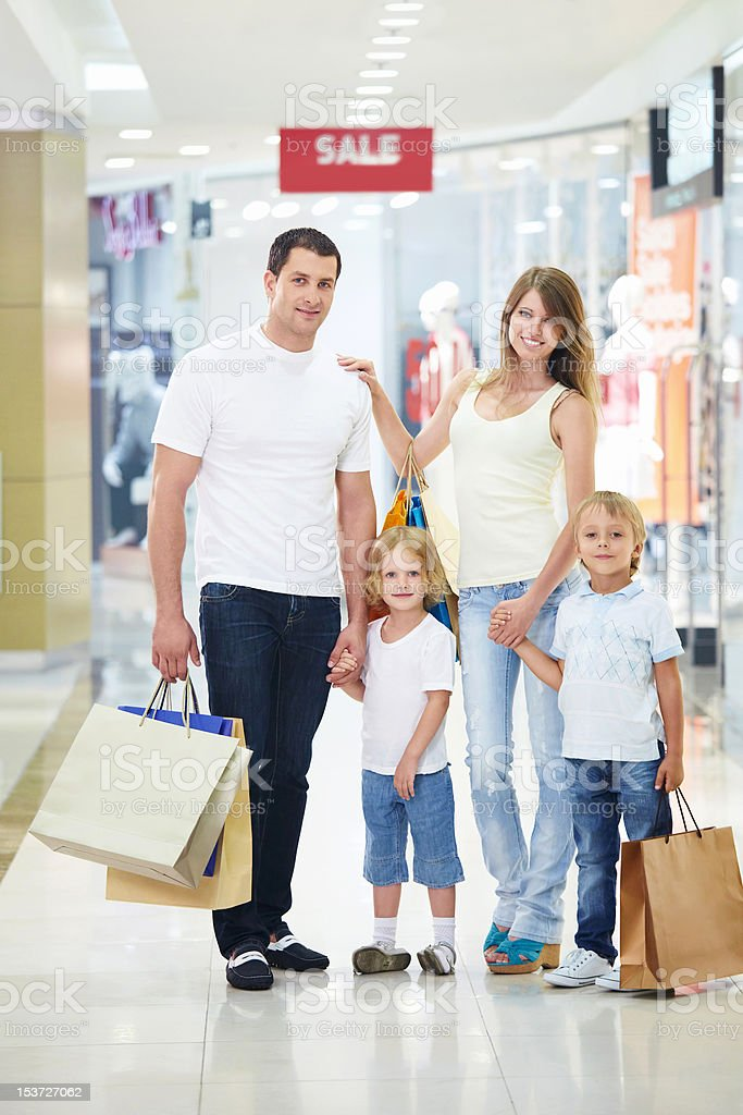 Attractive couple in shop royalty-free stock photo