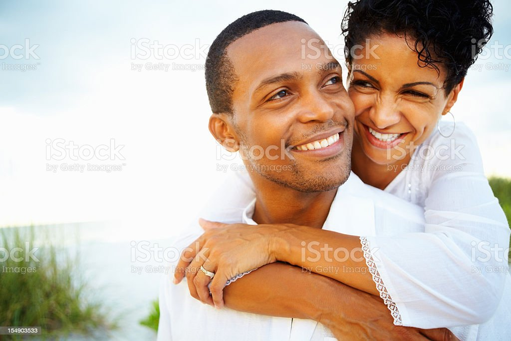 Attractive couple spending quality time together royalty-free stock photo