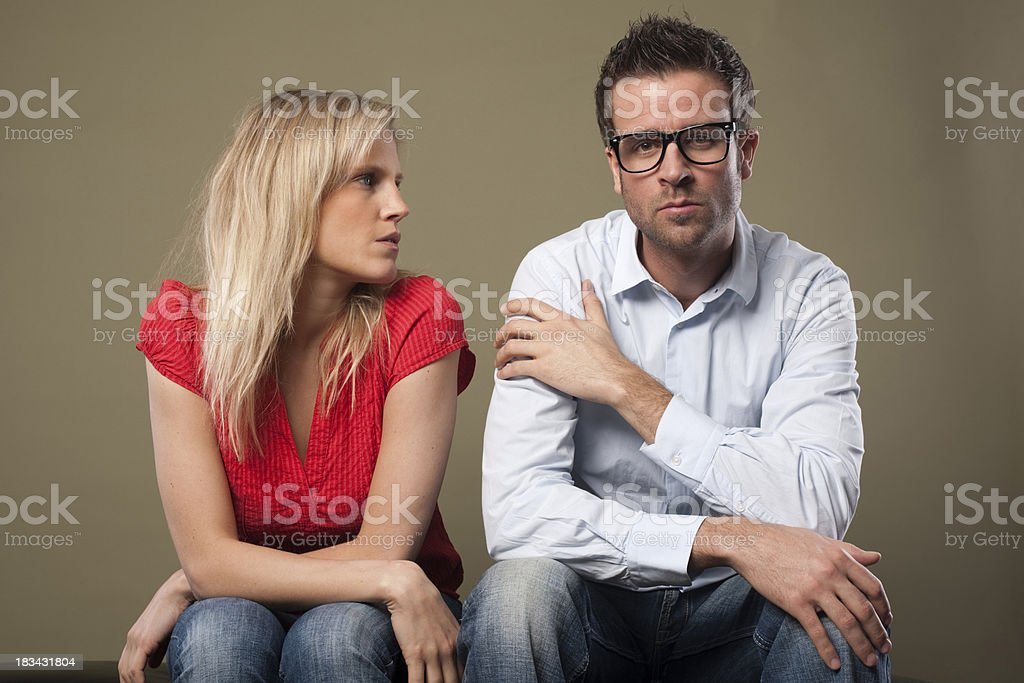 Attractive couple talking royalty-free stock photo