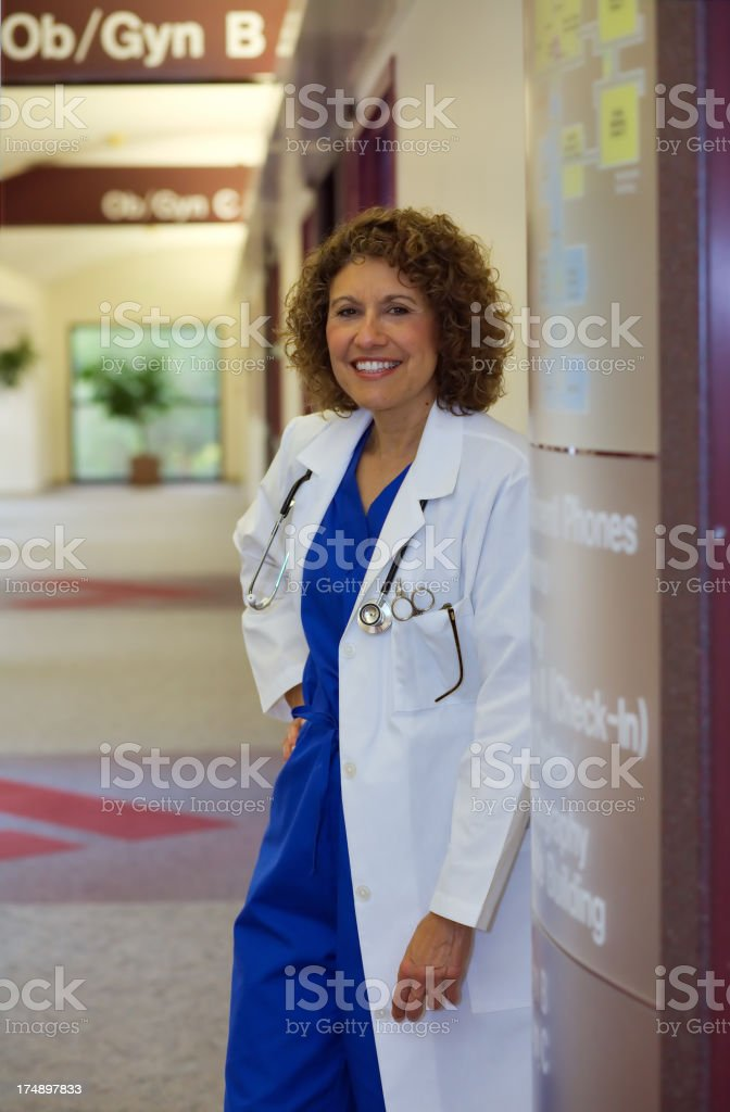 Attractive Doctor royalty-free stock photo