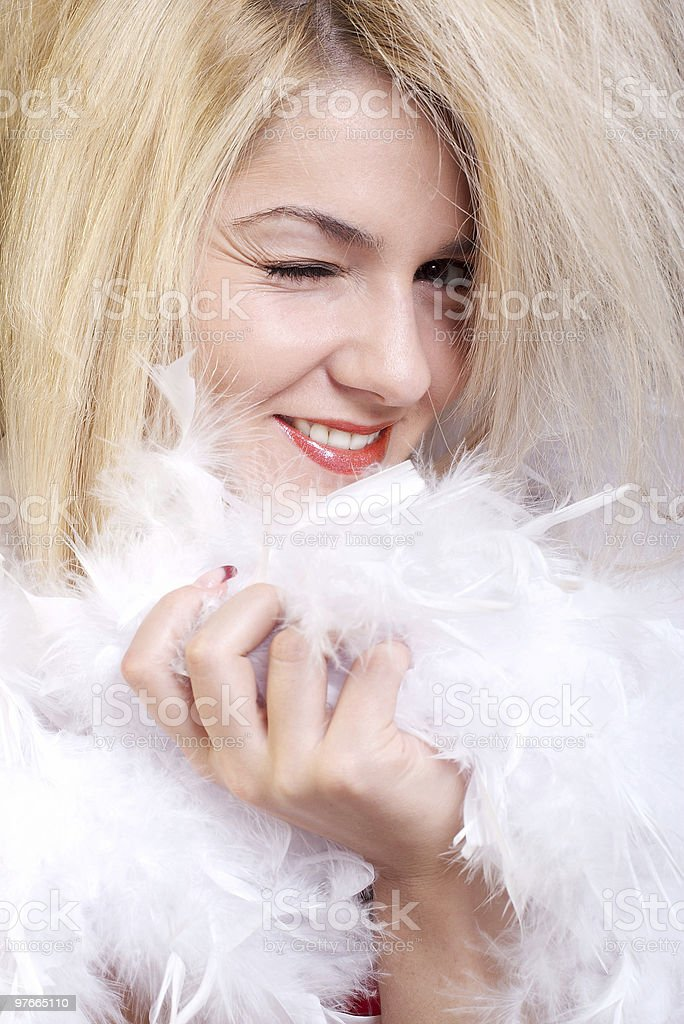 Attractive erotic blonde royalty-free stock photo