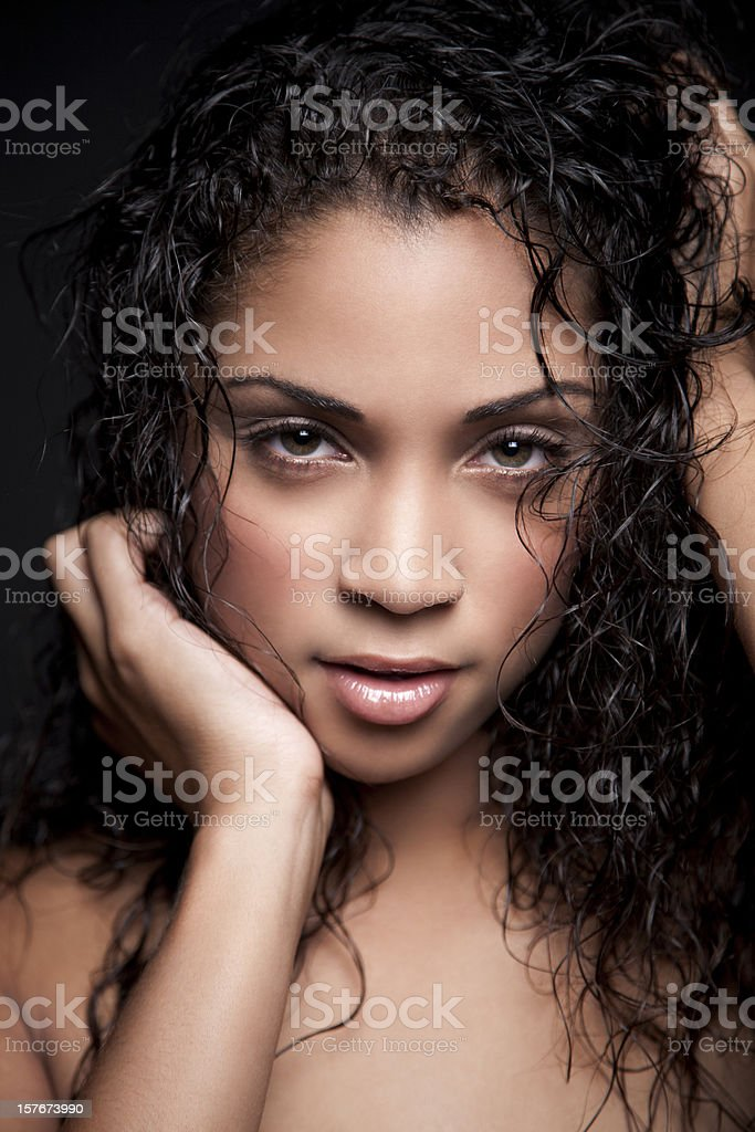 Attractive ethnic woman royalty-free stock photo