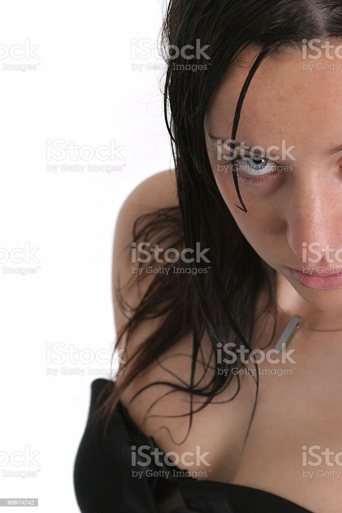 Attractive eye royalty-free stock photo