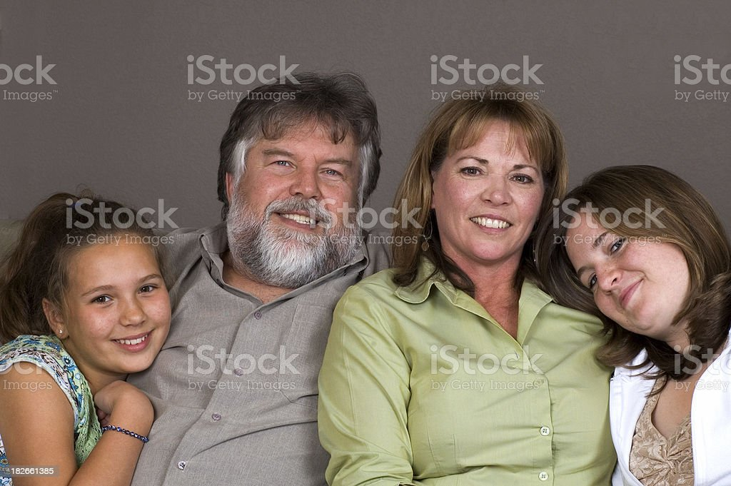 Attractive Family stock photo