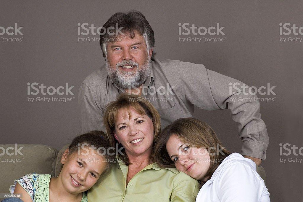Attraente famiglia foto stock royalty-free