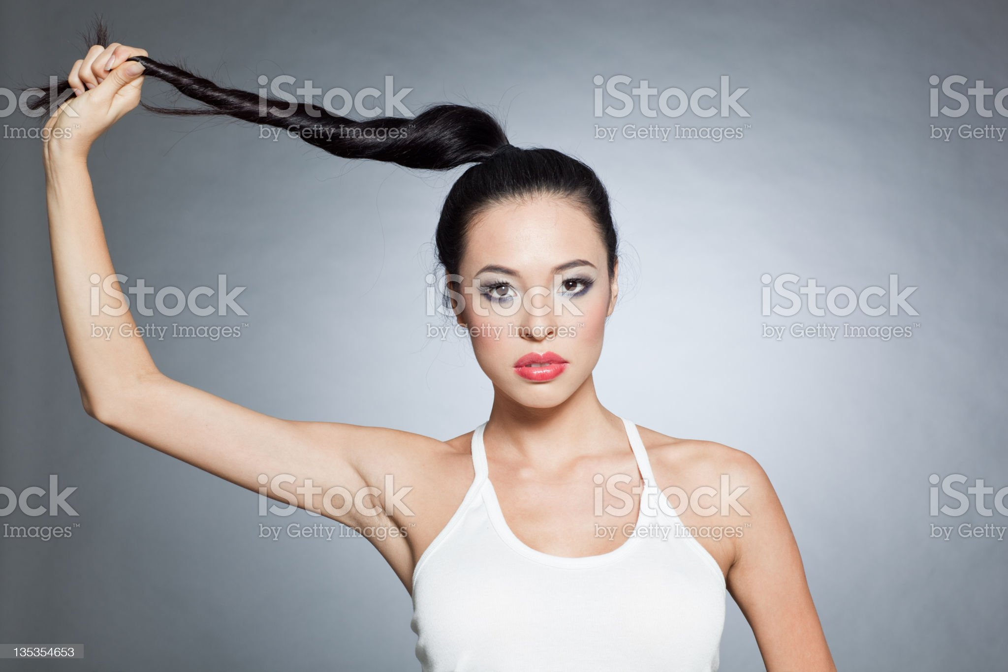 Attractive fashion model royalty-free stock photo